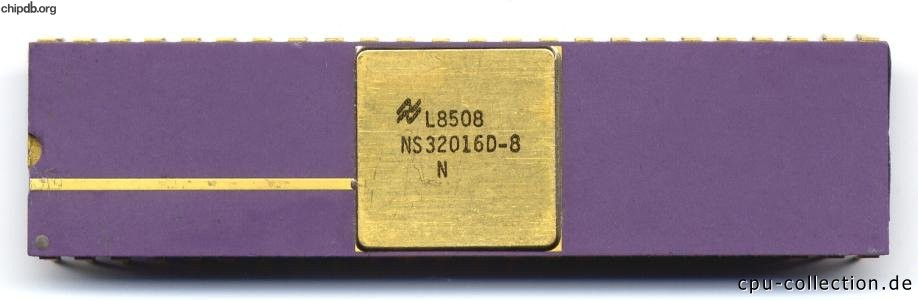 National Semiconductor NS32016D-8
