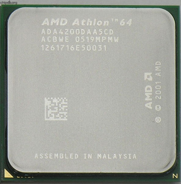 AMD Athlon 64 X2 4200+ ADA4200DAA5CD ACBWE