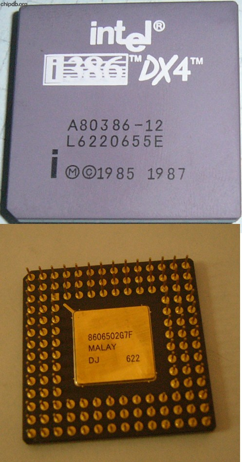 Intel A80386-12 DX4 FAKE