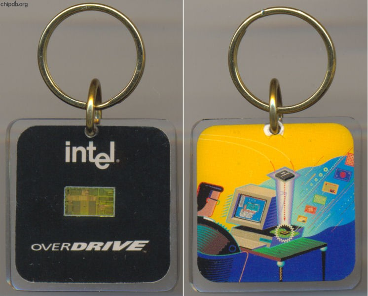 Intel keychain Intel overdrive black