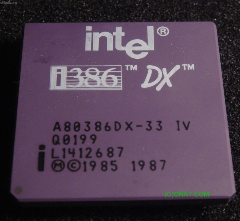Intel A80386DX-33 IV Q0199 ES