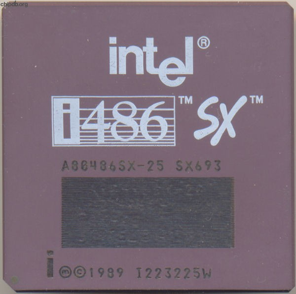 Intel A80486SX-25 SX693 remarked