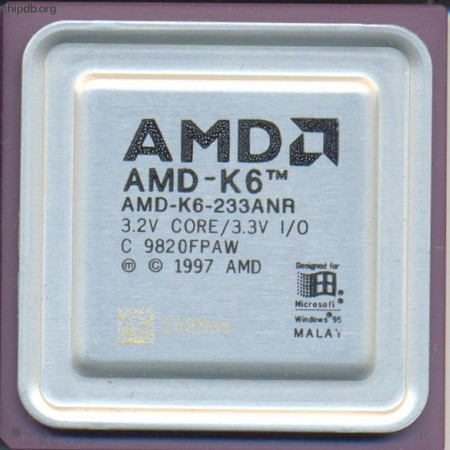 AMD AMD-K6-233ANR rev C etched speed