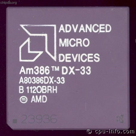AMD A80386DX-33 rev B diff print