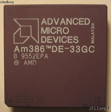 AMD Am386 DE-33GC diff print 2