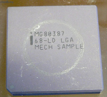 Intel MG80387 Mech. sample