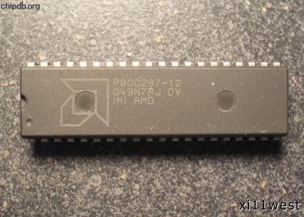 AMD P80C287-12 engraved