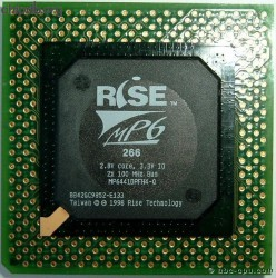 Rise mP6 266 2x100MHz 1998