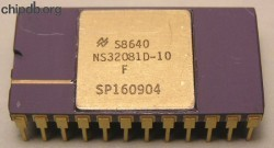 National Semiconductor NS32081D-10