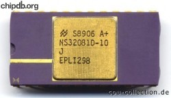 National Semiconductor NS32081D-10 diff print