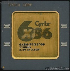 Cyrix 6x86-P133+GP 3.3V or 3.52V
