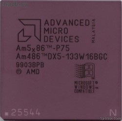 AMD Am486-DX5-133W16BGC engraved