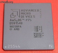 AMD Am5x86-P75 engraved