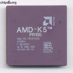 AMD AMD-K5-PR100ABQ no N in corner