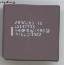 Intel A80C286-12 Copyright Harris Intel