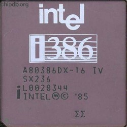 Intel A80386DX-16 IV SX236 double sigma
