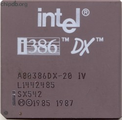 Intel A80386DX-20 IV SX542