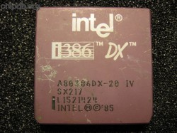 Intel A80386DX-20 IV SX217 DX logo