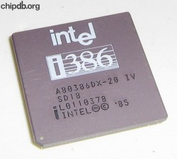 Intel A80386DX-20 SD18
