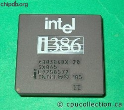 Intel A80386DX-20 SX065