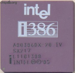 Intel A80386DX-20 IV SX217 no sigma