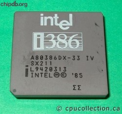Intel A80386DX-33 IV SX211