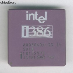 Intel A80386DX-33 IV SD18