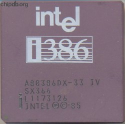 Intel A80386DX-33 IV SX366 no DX logo