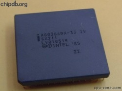 Intel A80386DX-33 IV SX211 no logo
