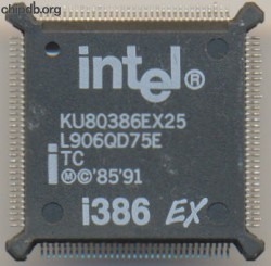 Intel KU80386EX25 TC white print