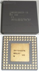 Intel MG80386SX-16 Q 166 ES