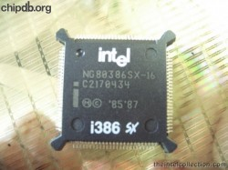 Intel NG80386SX-16 i386text sxlogo