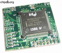 Intel NG80386SX-25 LOW POWER