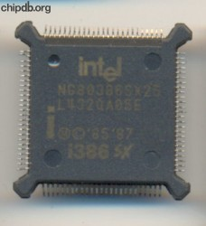 Intel NG80386SX25 brown print