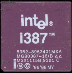 Intel MG80387-16/B 5962-8953401MXA no DX logo