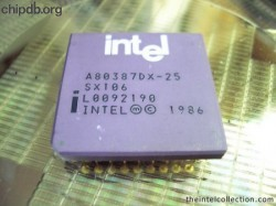 Intel A80387DX-25 SX106