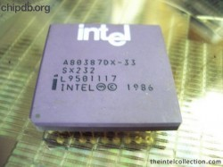 Intel A80387DX-33 SX232