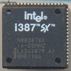 Intel N80387SX 16-25 MHZ no parenthesis