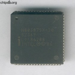 Intel NG80387SX-20 SZ369 no logo
