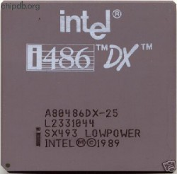 Intel A80486DX-25 SX493 LOWPOWER