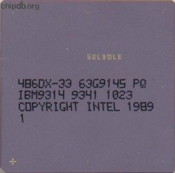 Intel 486DX-33 63G9145 IBM part numbers no logos