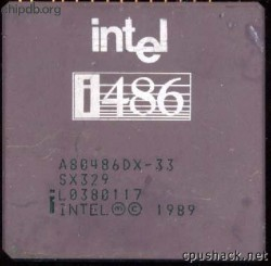 Intel A80486DX-33 SX329