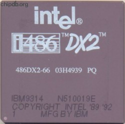 Intel 486DX2-66 03H4939 Made by IBM