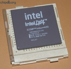 Intel A80486DX4100 SK096 white print new logo