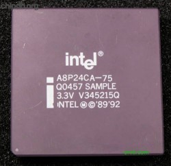 Intel 486 DX4-75 A8P24CA75 Q0457 ES