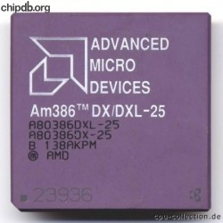 AMD A80386DX/DXL-25 engraved