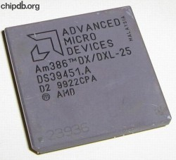 AMD A80386DX/DXL-25 rev D2 engraved 2