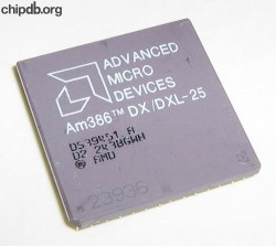 AMD A80386DX/DXL-25 rev D2 engraved