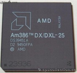 AMD A80386DX/DXL-25 rev D2