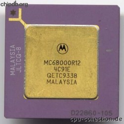 Motorola MC68000R12 star in corner